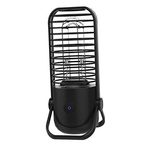 MERIGLARE 3.7V Lámpara de Esterilización USB Lámpara de Esterilización UV Lámpara de Ozono de Desinfección UVC Hogar Negro - Negro