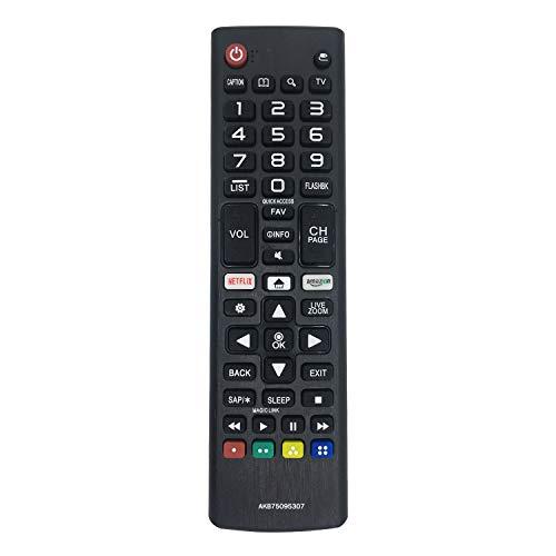 MYHGRC Nuova sostituzione Telecomando universale TV LG AKB75095307 per telecomando lg smart tv LED LCD 4K UHD Telecomandi Adatto per 32LJ550B 43UJ6560-UF 49UJ6050-UC 55UJ6200UA 55UJ6300UA 60UJ6350UC