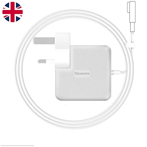 Nicewire Compatible With Macbook Pro Charger, 85W Magsafe L-Tip Power Adapter Replacement MacBook Air Charger 13' 15' 17' Inch, Mid 2009 2010 2011 Mid 2012 Mac Models, MC556B/C A1343 A1278 A1290 A1286