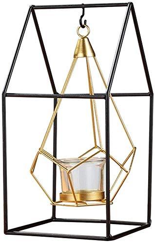 Candeliere Portacandele Candela stand moderno stile scandinavo semplice geometrico metallo candela portacandele casa moda cavità in ferro battuto candeliere decorazione candeliere ( Color : #2 )