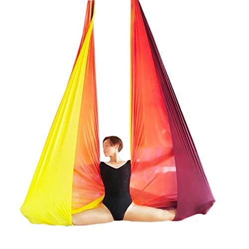 Linyuex 6 Metros Multicolor Aéreo Anti-Gravedad Yoga Hamaca Swing Flying Yoga Bed Bodybuilding Fitness Inversión Trapeze (Color : Style A)