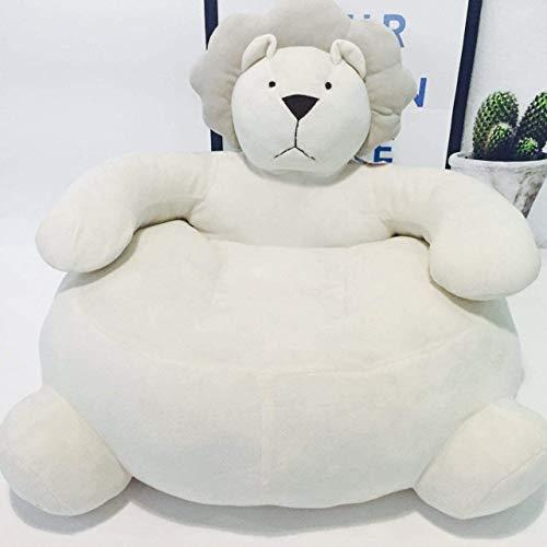 YUEHAPPY Kids Sofa Chair Toy Seat Baby Nest Sleeping Bed Cushion Stuffed Teddy Bear Doll,65X55x42cm(White Lion)