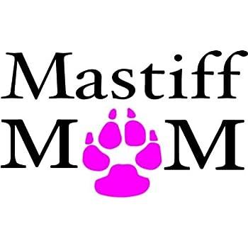 WickedGoodz Pink Paw Mastiff Mom Vinyl Window Decal - Dog Breed Bumper Sticker - Perfect Mastiff Dog Pet Owner Gift