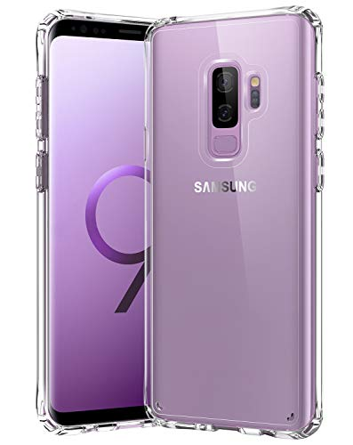 Samsung Galaxy S9 Plus Case,[Airbag Series] [ Military Grade ] | 15Ft. Drop Tested | [Scratch-Resistant] | Wireless Charging | for Samsung Galaxy S9 Plus - Clear