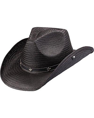 Peter Grimm Ltd Unisex Patterson Straw Cowboy Hat Black One Size