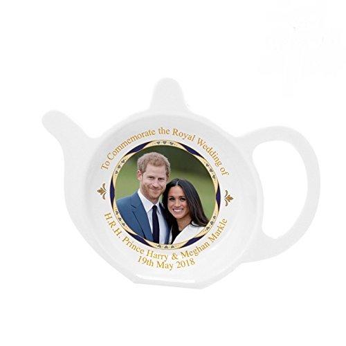Royal Heritage - Designed in England Commemorative Tea Bag Tidy, White