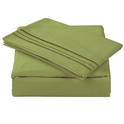 TasteLife 105 GSM Deep Pocket Bed Sheet Set Brushed Hypoallergenic Microfiber 1800 Bedding Sheets Wrinkle, Fade, Stain Resistant - 3 Piece(Gold,Twin)
