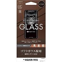 ラスタバナナ AQUOS R5G SH-51A SHG01 フィルム 平面保護 強化ガラス 0.33mm 高光沢 ケースに干渉しない ゴリラガラス採用 アクオス 液晶保護フィルム GG2285AQOR5G