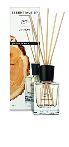 ipuro Essentials Raumduft cedar wood - Raumduft für ein warmes und würziges Raumklima - Lufterfrischer mit hochwertigen Inhaltsstoffen (100ml)