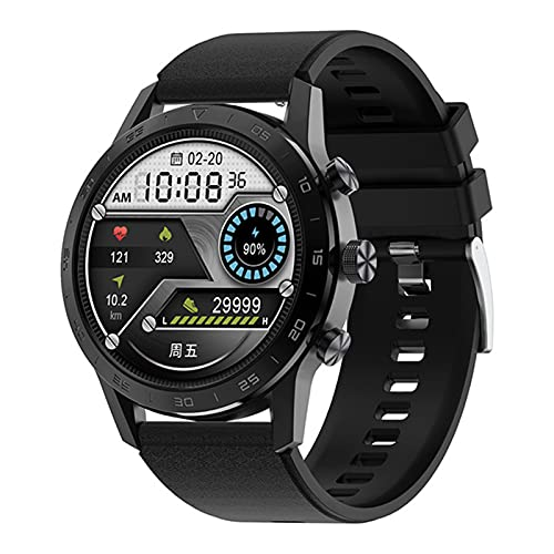 XYZK Smart Watch Men's Full Touch Pantalla Táctil Completa Impermeable Bluetooth Call Smart Watch para Android iOS,C