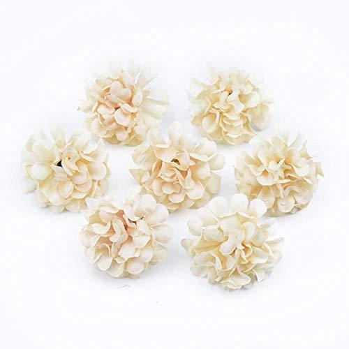 10 stuks handwerk vazen voor huisdecoratie bruiloft bruids accessoires klaring diy ambachten zijde anjer kunstbloemen, 1