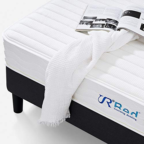 """Sunrising Bedding 8"""" Natural Latex Full Mattress, Individually Encased Pocket Coil, Firm, Supportive, Naturally Cooling, Non-Toxic Organic Mattress, 120-Night Risk-Free Trial, 20-Year Warranty"""