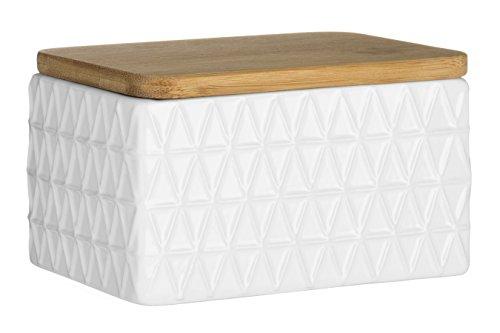 Premier Housewares Tri Butter Dish - White