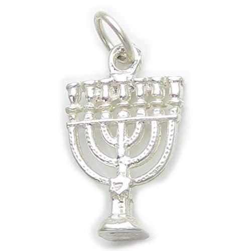 Menora sterlingsilber charm .925 x 1 Jüdisch kerzenständer charms EC568
