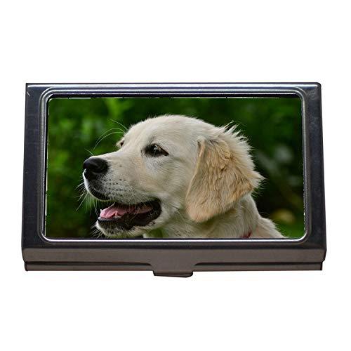 Porta biglietti da visita Porta carte di credito Porta carte di credito, cane Golden Retriever Retriever Puppy, porta biglietti da visita Acciaio inossidabile
