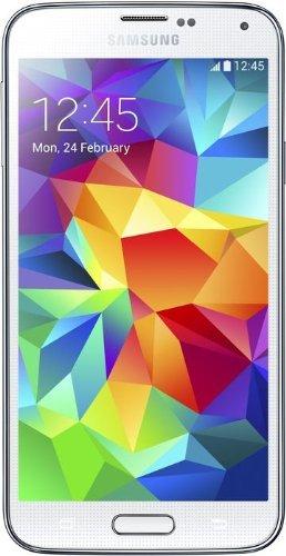 Samsung Galaxy S5 Smartphone (12,95 cm (5,1 Zoll) Touch-Display, 2,5 GHz Quad-Core Prozessor, 2 GB RAM, 16 MP Kamera, Android 4.4 OS) - Weiß [EU-Version]