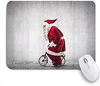NIESIKKLAマウスパッド 自転車に乗るサンタクロース ゲーミング オフィス最適 高級感 おしゃれ 防水 耐久性が良い 滑り止めゴム底 ゲーミングなど適用 用ノートブックコンピュータマウスマット