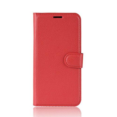 XMTN ASUS ZenFone Live (L1) ZA550KL 5.5' Custodia,Premio PU Custodia in Pelle con Wallet Case Cover per ASUS ZenFone Live (L1) ZA550KL Smartphone (Rosso)