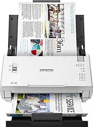 Epson WFDS410 - Escáner de Documentos en Color A4 (Capacidad de USB) Blanco y Negro