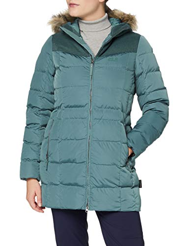 Jack Wolfskin Damen BAFFIN ISLAND COAT winddichter Daunenmantel, north atlantic, M