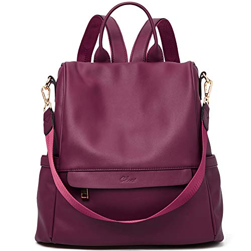in budget affordable Women's backpack purse fashion leather big travel bag ladies crossbody bag red color
