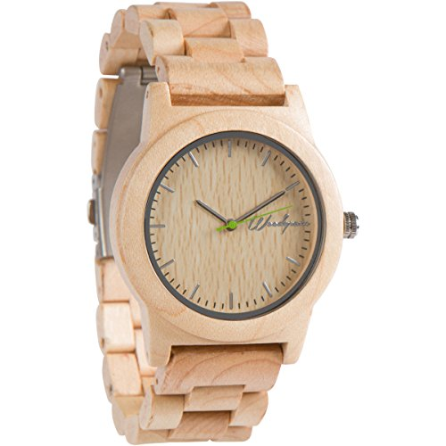 Woodgrain Bamboo Wooden Watch with...