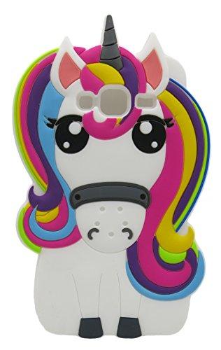 3C Collection Cover J3 2016 Unicorno, Cover Galaxy J3 2016 Unicorno, Cover Cartoni Animati per Samsung Galaxy J3 2016 Silicone Gomma