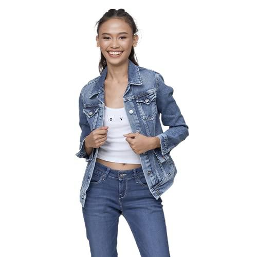 Pepe Jeans Thrift PL400755CF7 Chaqueta Vaquera, Azul (Denim CF7), Medium para Mujer