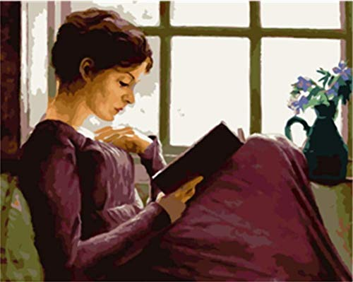 Peinture Par Numéro Diy Lire La Beauté Peinture Murale Peinture D'Art Décoration Maison Peinture Cadeau
