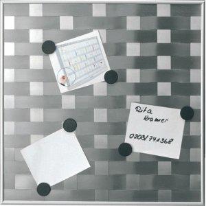 Franken Memoboard (Hafttafel) Matrix 47,5x47,5 cm Silber