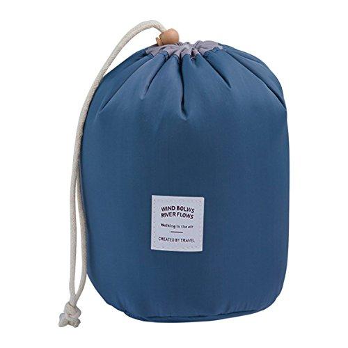 COOJA Impermeabile Trousse Makeup Bag, Accessori Trucco Borsa Toilette Viaggio con Piccolo Pochette Trucchi e Borsa Trasparente PVC per Donna Bambina -Blu Scuro