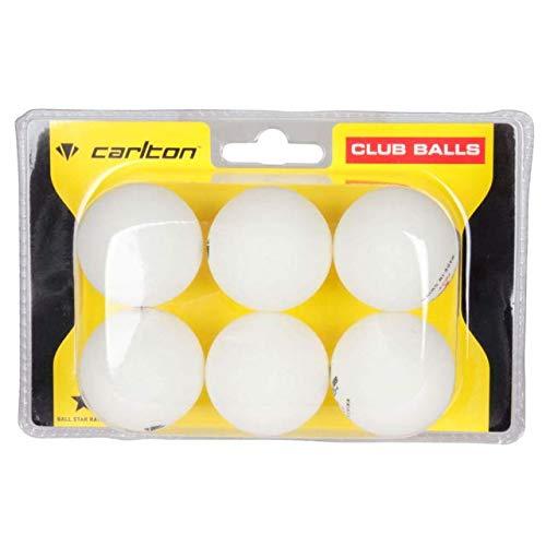 Outdoor Tischtennisbälle Hi-Vis Outdoor Ping Pong Bälle x6 Pack hohe Sichtbarkeit Hi-Viz Neon Glow Wind Resistant Heavy Weather Resisitant Slow Spin Starter Tischtennis-Zubehör (weiß)