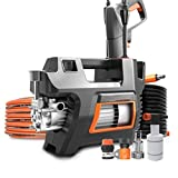 Electric Pressure Washer, Electric Power Washer High Pressure Washer with Spray Gun, Brush, and 4 Quick-Connect Spray Tip 220V Household Washing Machine Automatic Car Wash Water Gun Car Wash Water Gun