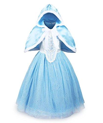 uk1stchoice-zone Bonne Qualité Dernière Conception Filles Reine des Neiges Princesse Partie Costumée Déguisements Robe de Soirée (8-9 Ans, DRSS-CNDR)
