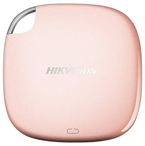 HIKVISION T100I SSD Esterno Portatile da 512G / Velocità di Lettura Fino a 540MB/s,USB 3.1/Tipo C, Unità a stato solido esterne (Oro rosa)
