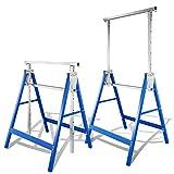 Hoplugge 2 caballetes plegables para andamios, 7 alturas, altura...