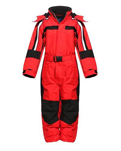 PM Kinder Outdoor Skianzug Snowboard Unisex Jungen Mädchen Funktionsanzug Hardshell Schneeanzug Winter LB1226 rot 134