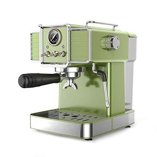 Máquina de café eléctrica Cafetera Espresso Máquina de café Retro Hogar semi-automático Presión de la bomba de la leche de vapor Frother