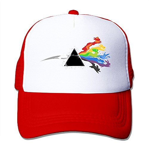 CCbros Pink Floyd Eevee Evolution Unisex Mesh Back Hat Caps One Size Fit All Red