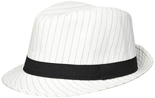 Loftus International Loftus 1920S Gangster Mob Boss Costume Pinstripe Fedora, White Black, One Size Novelty Item