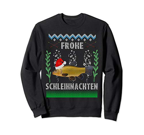 Ugly Christmas Fisch Schlei Weihnachten hässlich lustig Sweatshirt