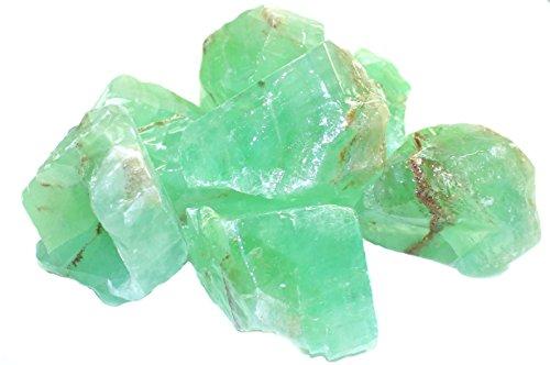 Budawi® - Calcit grün (Smaragd Calcit) Brocken - grüner Calcit Rohstein
