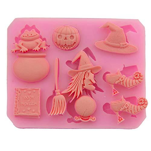 Molde De Silicona Para Halloween 2 Piezas Molde De Silicona Para Chocolate...