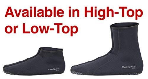 FUN TOES Unisex Neoprene Socks for Water and Sand Sports Black//Green Rim