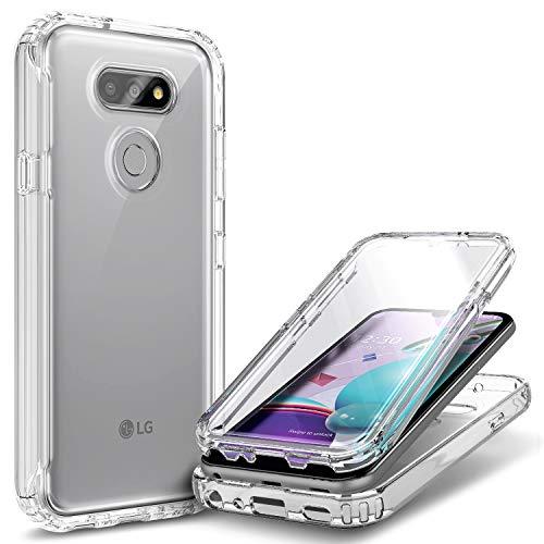 E-Began Schutzhülle für LG Premier Pro Plus (L455DL), LG XPression Plus 3 (ATundT)/Harmony 4, vollständiger Schutz, stoßfest, robust, mit integriertem Bildschirmschutz (matt)