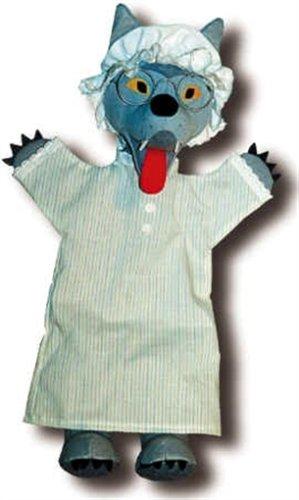Trullala Marioneta de Peluche de Dedo, de Mano, Lobo Disfrazado 40cm