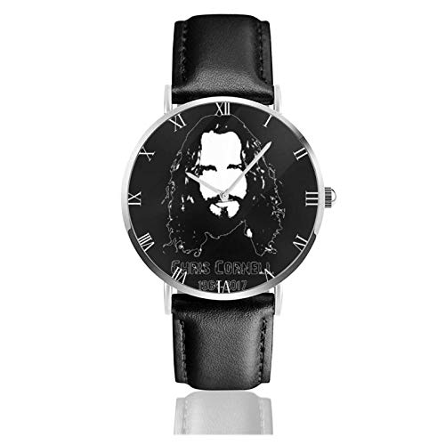 Chris Cornell 1964-2017 Relojes Unisex Reloj de Moda Ultrafino