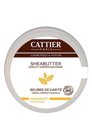 Cattier Sheabutter mit Honigduft, für Haut & Haar, zertifizierte Naturkosmetik, 100 g