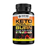 Silver Sage Nutrition |Keto Ultra Burn | Keto Diet Pills | Exogenous Ketones | Supplements for Weight Loss for Women | Weight Loss for Men | 1200mg Natural Fat Burning Supplement