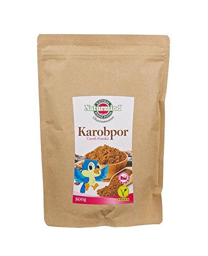 Naturmind Carob Pulver 500g - Glutenfrei, Lactosfrei, Koffeinfrei, Theobrominfrei